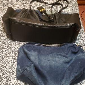 Reversible denim handbag
